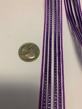"7/8"" purple striped ""organza type"" striped ribbon"