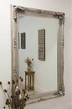 Large Silver Antique Shabby Chic Ornate Wall Mirror 4ft1 X 6ft1 123.5cm X 185cm