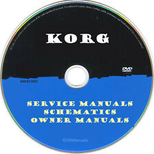 KORG Service Manuals & Schematics- PDFs on DVD - Huge Collection Latest