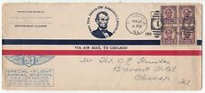 1926 Springfield / Chicago Cover- SPECIAL FLIGHT AIRMAIL STN, STATE FAIRGROUNDS
