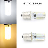 2 x 100-120V 3W E17 64LED Chip 3014 SMD LED Corn Bulb Light Lamp White WarmWhite