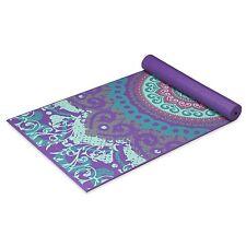 GAIAM Premium Moroccan Garden Printed Yoga Mats (4MM) Purple