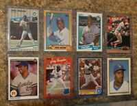 (8) Greg Vaughn 1990 Upper Score Topps  1989 Fleer Rookie card lot RC 355 Homers