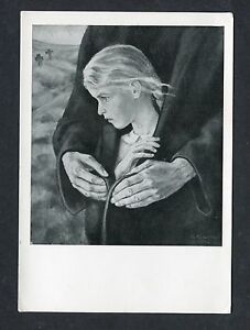 """C1960's Art Card """" Father's Hands by Kukenthal"""