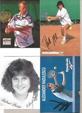 LOT 4 Autogramme Tennis Wiltrud Probst Prinosil Alexander Radulescu Rackl xyz #