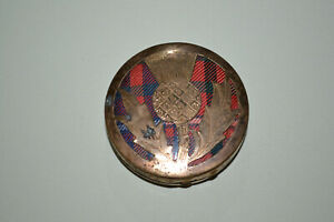 Vintage brass powder compact.