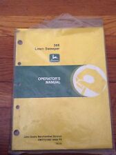John Deere Operators Manual for 388 Lawn Sweeper OMTY21680 Issue F5