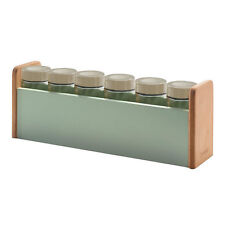 Typhoon Vintage Americana Kitchen 6 Cooking Condiment Herb Spice Rack Stand Set