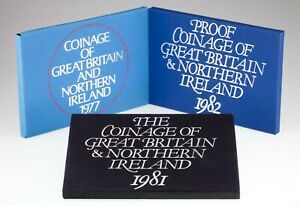1977, 1981 & 1982 Great Britain & Northern Ireland Proof sets