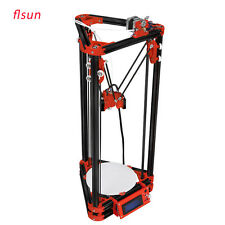 Delta 3D Printer DIY Metal Frame Flsun Heated Bed +filaments+SD Card Free Ship
