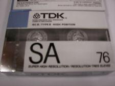 New Old Stock TDK SA76 SA-76 Super Avilyn Cassette Sealed 1988 Vintage Type 2