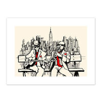 Musicians Jazz Men New York Unframed Wall Art Print Poster Home Decor