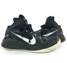 Men's Nike Hyperdunk Hi-Top Basketball Shoes Size 7.5 (653483-001) Black/Silver