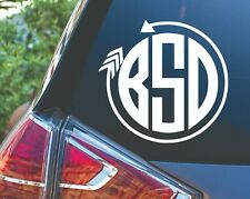 Personalized Circle Arrow Monogram Decal Sticker for Tumbler Car Window
