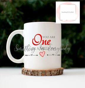You're One In a Million Novelty Sweet & Mug Gift Mum Dad Boyfriend Girlfriend