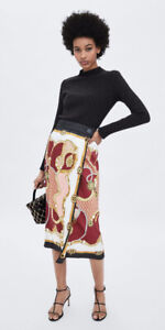 NWT Zara Chain Print Skirt Size M