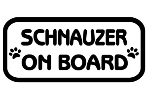 Schnauzer On Board Car, Van sticker, decal paw print