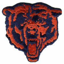 "CHICAGO BEARS NFL FOOTBALL 3"" DIECUT BEAR LOGO PATCH"