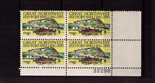 US USA Sc# 1409 MNH FVF PLATE # BLOCK Fort Snelling Keelboat Teepees River