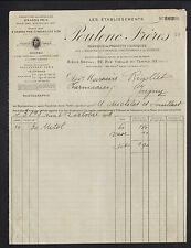 """PARIS (III°) USINE à IVRY & MONTREUIL/BOIS PRODUITS CHIMIQUES """"Ets POULENC"""" 1910"""
