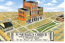St Saint Michael's Church-School-Atlantic City-New Jersey-Vintage Art Postcard