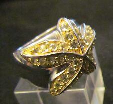 Ring Silber 925 Rodiniert mit Citrinen