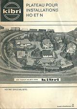 Catalogue kibri 1969 HO N train chemin de fer réseau ferroviaire