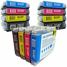 12 BROTHER DCP-350C compatible printer ink cartridges