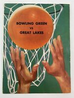 Bowling Green University vs Great Lakes Naval Training 1945 Basketball Program