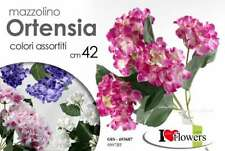 MAZZO MAZETTO BOUQUET ORTENSIA 42CM FIORI FINTI ARTIFICIALI ASSORTITI OIS 693687