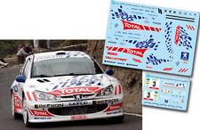 Decal 1:43 Enrique Garcia Ojeda - PEUGEOT 206 S1600 - Rally El Corte Ingles 2005