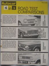 AUTOCAR road test featuring Ford Escort, Renault, Vauxhall Viva, Austin, Morris