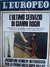 L' EUROPEO n°12 1967 Ira Furstenberg - Morte Gianni Roghi - Jacqueline Ken [C75]