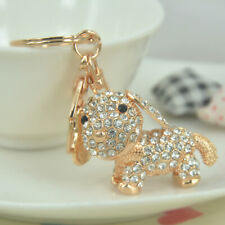 Jewelry Crystal Puppy Dog Key Ring Chains Keychain Animal Alloy Rhinestone Gift