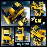 CAT Lot Toy State 1995 Electronic Mega Construction Bulldozer & Mini CAT Dozer