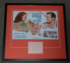 Natalie Wood 1947 Signed Framed 21x22 Miracle on 34th Street Poster Display AW