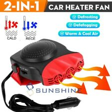 2 in1 Car Heater Vehicle 3 Outlet Portable 30S Fast Heating Defrost Defogger 12V