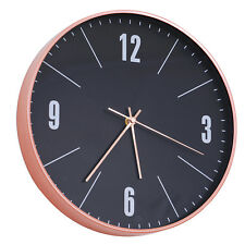 HOMCOM  Horloge murale design contemporain pendule silencieuse Ø 30 x 5 cm 3