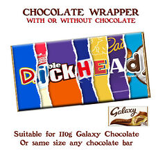 Rude Chocolate Bar Wrapper Novelty Joke Funny Gift Birthday Christmas Valentines