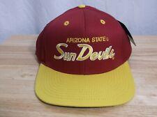 98277ce1f3cbb Arizona State Sun Devils Script Baseball Hat Cap Snapback by Eclipse NEW w   Tags