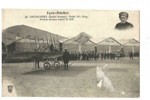 Lyon Aviation Light On Biplane Sommer Xx Card Damaged Xx
