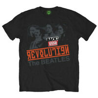 The Beatles Revolution Back in the USSR Official Rock Music Black Mens T-shirt