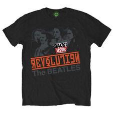 La Revolución de los Beatles en la URSS Música Rock Oficial Negro para Hombre Camiseta