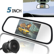 "5""TFT LCD Car Rear View Mirror Monitor with 420TVL 18mm Lens Reverse Camera"