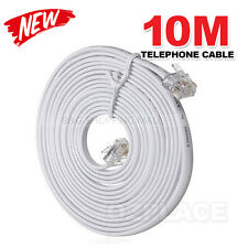 10M Telephone Phone Extension Cord Cable Plug for Adsl ADSL2 Filter Fax Plug
