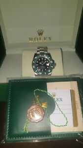 Rolex Submariner 116610 black dial wrist watch authentic with papers last price.