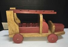 Moulin Roty Wooden Rustic Limited Edition Fire Truck Toy