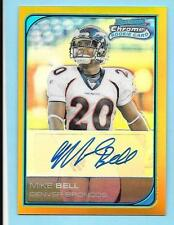 2006 Bowman Chrome Gold Refractor Autograph #232 Mike Bell 01/50 Broncos