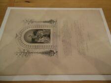 Antique 1893 French Confirmation Certificate, Berthe Esteve, March 1893
