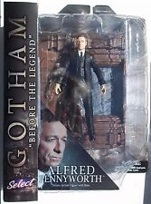 DC GOTHAM SELECT. ALFRED DELUXE ACTION FIGURE. WITH BASE & DISPLAY. NEW.